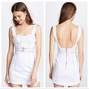 For love & lemons Daria white denim dress M